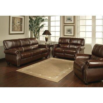 houston italian leather sofa loveseat and armchair set wayfair