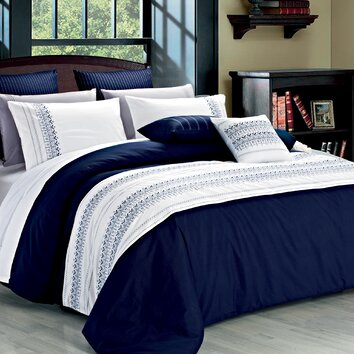 North home clarice 3 piece duvet cover set reviews wayfair for Housse sofa walmart