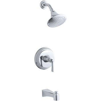 kohler archer bath shower trim set with lever handle valve not