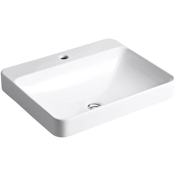 Kohler Vox Rectangle Vessel Above Counter Bathroom Sink With Single Faucet Hole Amp Reviews Wayfair