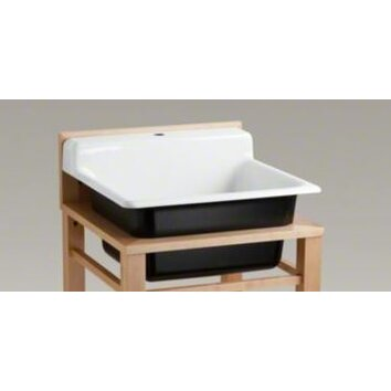 Bayview 25 5 Quot X 24 Quot Single Top Mount Utility Sink With