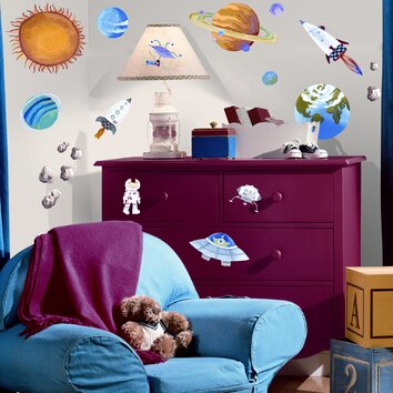 Room mates studio designs outer space wall decal reviews for Outer space studios
