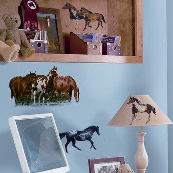 Room Mates Studio Designs 24 Piece Wild Horses Wall Decal