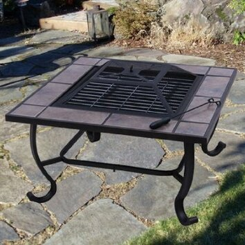 Aosom outsunny backyard patio fire pit table reviews for Aosom llc outsunny chaise lounge