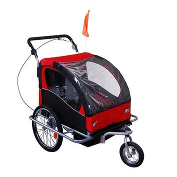 Aosom elite ii 2 in 1 double baby bike trailer reviews for Aosom llc outsunny chaise lounge