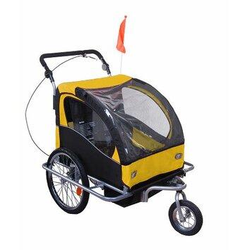 Aosom llc elite ii 2 in 1 double baby bike trailer 5664 for Aosom llc outsunny chaise lounge