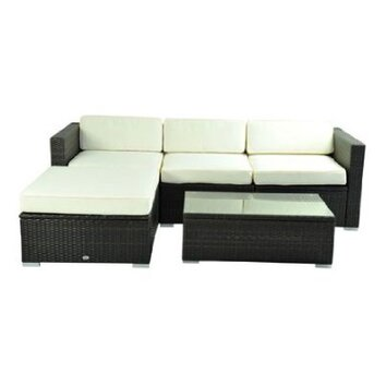 Aosom outsunny lounge seating group with cushion reviews for Aosom llc outsunny chaise lounge
