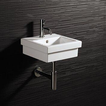 Bissonnet area boutique logic 35 ceramic bathroom sink for White ceramic bathroom bin