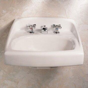 American Standard Lucerne Wall Hung Bathroom Sink Throu