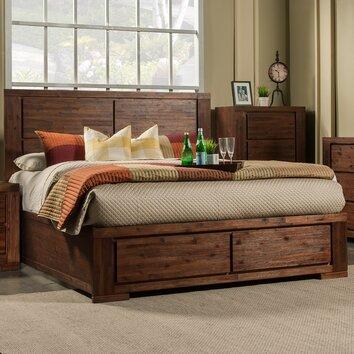 Alpine Furniture Pierre Storage Panel Bed Amp Reviews Wayfair
