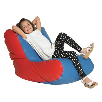 Child 39 s bean bag chaise lounge wayfair for Bean bag chaise lounge
