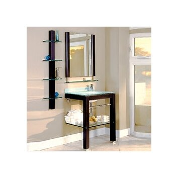 Bathroom Furniture 28 Single Wall Mounted Vanity Set With Mirror Wayfair