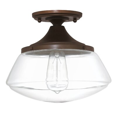 1 Light Semi Flush Mount Product Photo