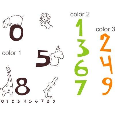 Alphabet Garden Designs Jungle Numbers Wall Decal