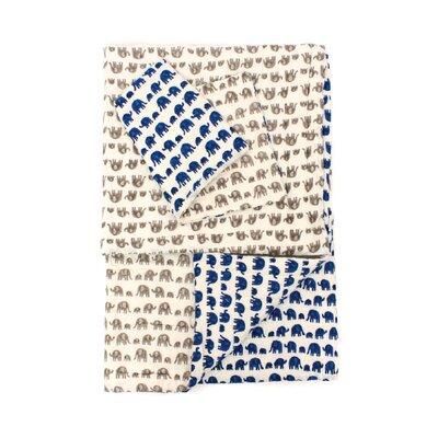 2 Piece Reversible Cotton Quilt Set by Jiti