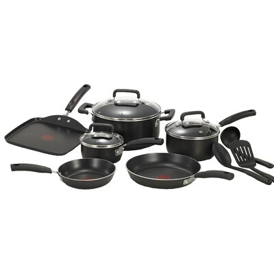 Signature Total Non Stick 12 Piece Cookware Set by T-fal