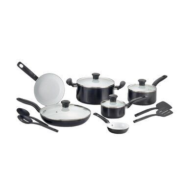 Initiatives Ceramic 14 Piece Cookware Set by T-fal