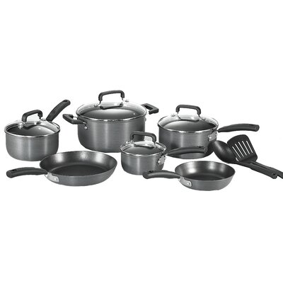 Signature Hard Anodized 12 Piece Cookware Set by T-fal