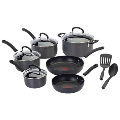 Ultimate Hard Anodized 12 Piece Cookware Set by T-fal