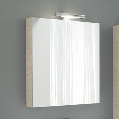 Light Y 2 Door Mirror Cabinet White Larch Product Photo