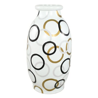 Modern Circles Round Decorative Vase by PoliVaz