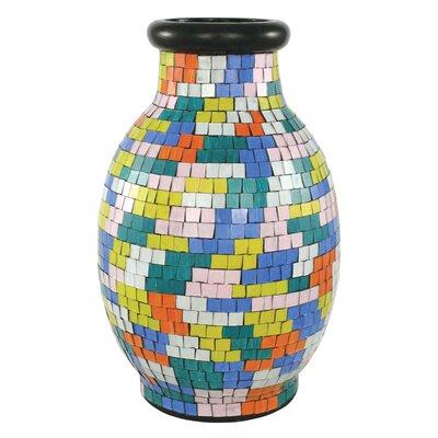 Mosaic Painter's Palette Round Vase by PoliVaz