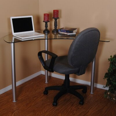 Tier One Designs Corner Writing Desk with Glass Top