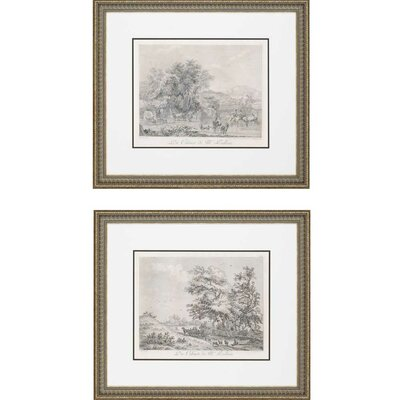 Landscapes Exclusive by Le Veau 2 Piece Framed Painting Print Set by Paragon