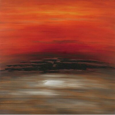 Paragon Red Sky Original Painting on Wrapped Canvas