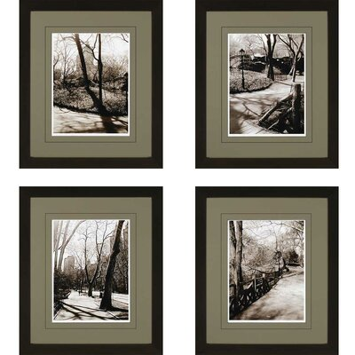 Central Park Shadows Giclee by Sikes 4 Piece Framed Photographic Print Set by Paragon