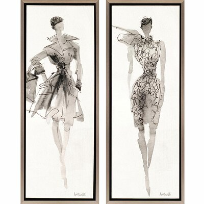 Fashion II 2 Piece Framed Painting Print Set by Paragon