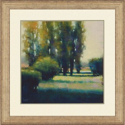 Cypress Solitude I by Tarbeaux Framed Painting Print by Paragon