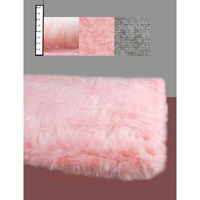 IXI Eros Faux Flokati Pink Area Rug