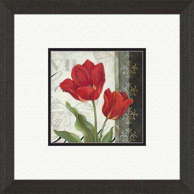PTM Images Etude En Rouge B Framed Graphic Art