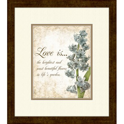 PTM Images Love Is…B Framed Textual Art