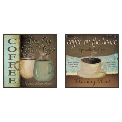 PTM Images Kitchen Coffee Label 2 Piece Framed Graphic Art Set