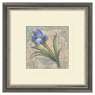 PTM Images 2 Piece Floral Tile Style Framed Painting Print Set