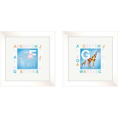 PTM Images 2 Piece Juvenile Animal Alphabet Framed Art Set