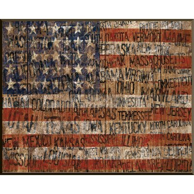 Old Glory Giclée Framed Wall Art by PTM Images