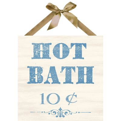 Hot Bath Textual Art on Plaque by PTM Images