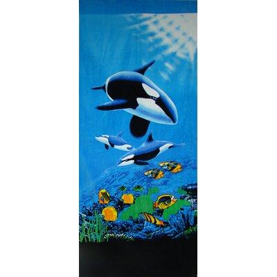 Killer Whale Beach Towel by Textiles Plus Inc.