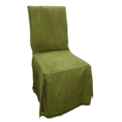 Faux Suede Dining Chair Slipcover by Textiles Plus Inc.