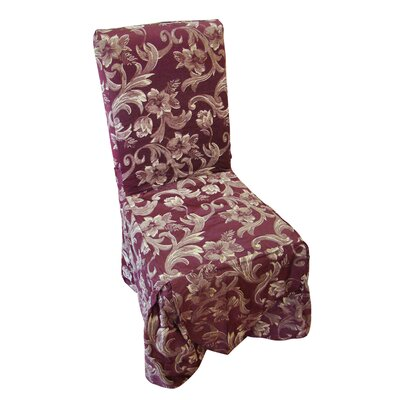 Jacquard Scroll Dining Chair Slipcover by Textiles Plus Inc.