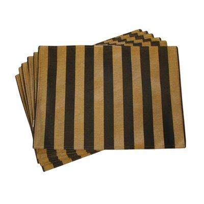 Textiles Plus Inc. Lined Jacquard Stripe Placemat