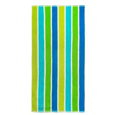Striped Terry Beach Towel by Textiles Plus Inc.