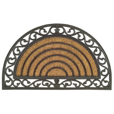 Imports Decor Molded Grill Half Round Doormat