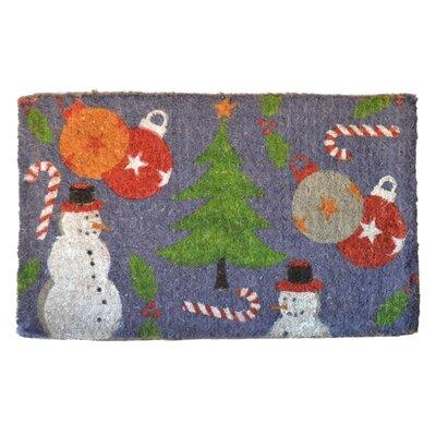 Imports Decor Woven Holiday Spirit Doormat