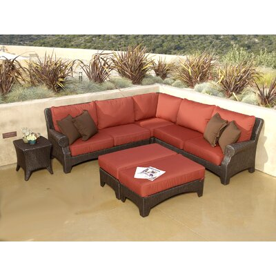 Santa Barbara Sectional Sofa with Cushions by Sunset West