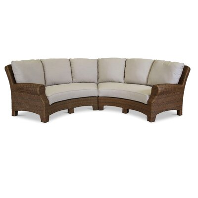 Santa Cruz 2 Piece Curved Sectional Set with Self Welt Cushions by Sunset West