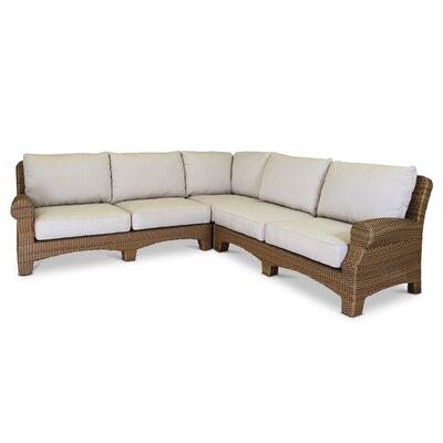 Santa Cruz Sectional with Self Welt Cushions by Sunset West